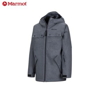 Boys Marmot Bronx Gray Ski Jacket Size Small 6/7